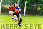 Shane Enright Tarbert breaks away from Ciaran O'Connor Ballylongford during the North Kerry 1st round Championship game played in Ballylongford on Sunday.