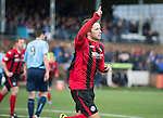 Forfar Athletic v St Johnstone....08.02.14   Scottish Cup 5th Round<br /> Stevie May celebrates his goal<br /> Picture by Graeme Hart.<br /> Copyright Perthshire Picture Agency<br /> Tel: 01738 623350  Mobile: 07990 594431