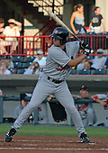 August 13, 2003:  Matt Scanlon of the New Britain RockCats during a game at Jerry Uht Park in Erie, Pennsylvania.  Photo by:  Mike Janes/Four Seam Images