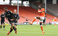 Blackpool's Nathan Delfouneso has an attempt at goal<br /> <br /> Photographer Rachel Holborn/CameraSport<br /> <br /> The EFL Sky Bet League One - Blackpool v Bradford City - Saturday September 8th 2018 - Bloomfield Road - Blackpool<br /> <br /> World Copyright &copy; 2018 CameraSport. All rights reserved. 43 Linden Ave. Countesthorpe. Leicester. England. LE8 5PG - Tel: +44 (0) 116 277 4147 - admin@camerasport.com - www.camerasport.com