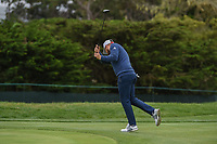 Tyrrell Hatton (ENG) reacts to his missed putt on 11 during round 3 of the 2019 US Open, Pebble Beach Golf Links, Monterrey, California, USA. 6/15/2019.<br /> Picture: Golffile | Ken Murray<br /> <br /> All photo usage must carry mandatory copyright credit (© Golffile | Ken Murray)
