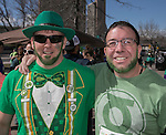John Gaudette and Rick Newman during the Shamrock Shuffle 5k fun run in Sparks on Saturday, March 4, 2017.