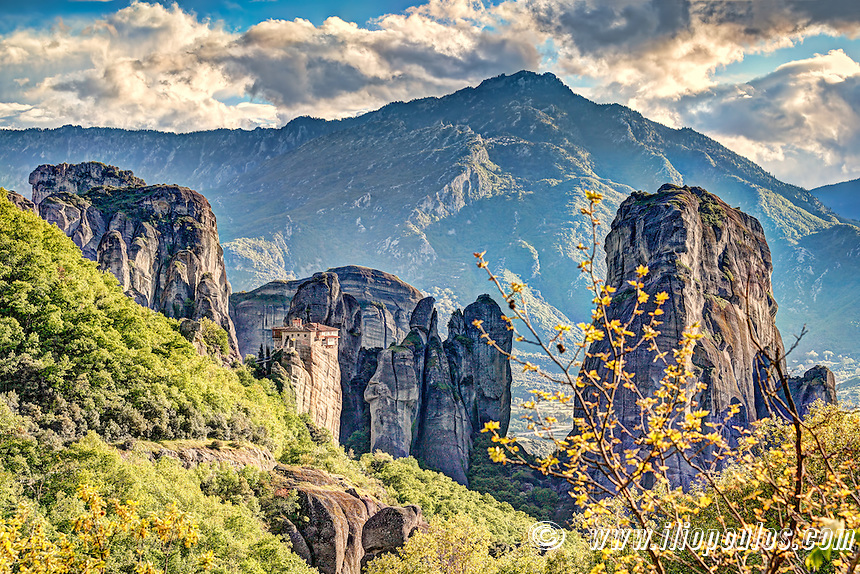 The Roussanou Monastery in the Meteora Monastery complex in Greece is dedicated to St. Barbara.