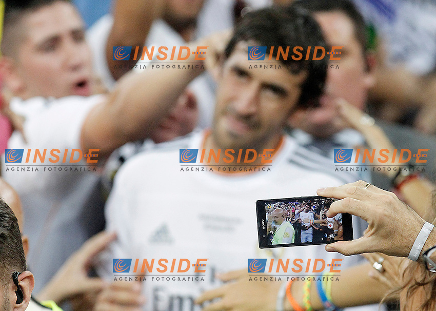 Real Madrid's Raul Gonzalez Blanco during Santiago Bernabeu Trophy.Tribute Match to Raul Gonzalez Blanco.August 22,2013. (ALTERPHOTOS/Acero) <br /> Football Calcio 2013/2014<br /> La Liga Spagna<br /> Foto Alterphotos / Insidefoto <br /> ITALY ONLY
