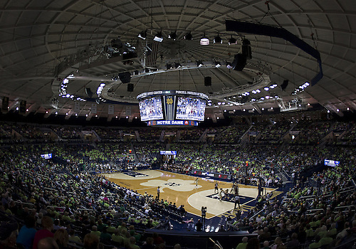 November 18, 2012:  A general view of the court during NCAA Women's Basketball game action between the Notre Dame Fighting Irish and the Massachusetts Minutewomen at Purcell Pavilion at the Joyce Center in South Bend, Indiana.  Notre Dame defeated Massachusetts 94-50.