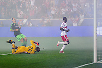 HARRISON, NJ - Saturday September 20, 2014: The New York Red Bulls defeat Seattle Sounders FC 4-1 at home at Red Bull Arena in regular season MLS play.