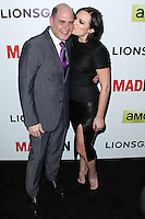 """HOLLYWOOD, LOS ANGELES, CA, USA - APRIL 02: Matthew Weiner, Elisabeth Moss at the Los Angeles Premiere Of AMC's """"Mad Men"""" Season 7 held at ArcLight Cinemas on April 2, 2014 in Hollywood, Los Angeles, California, United States. (Photo by Xavier Collin/Celebrity Monitor)"""