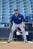 Toronto Blue Jays first baseman Rowdy Tellez (84) during an Instructional League game against the New York Yankees on September 24, 2014 at George M. Steinbrenner Field in Tampa, Florida.  (Mike Janes/Four Seam Images)