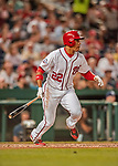 21 May 2018: Washington Nationals outfielder Juan Soto, making his first Major League start, leads off the 6th inning with a single against the San Diego Padres at Nationals Park in Washington, DC. The Nationals defeated the Padres 10-2, taking the first game of their 3-game series. Mandatory Credit: Ed Wolfstein Photo *** RAW (NEF) Image File Available ***