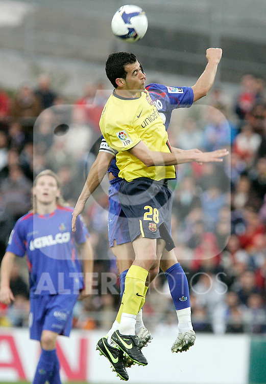 Barcelona's Sergio Busquets during La Liga match, April 18, 2009. (ALTERPHOTOS/Alvaro Hernandez).