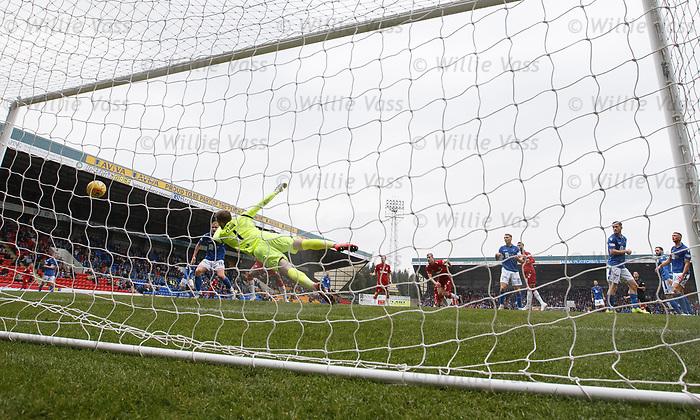 22.09.2019 St Johnstone v Rangers: Connor Goldson scores