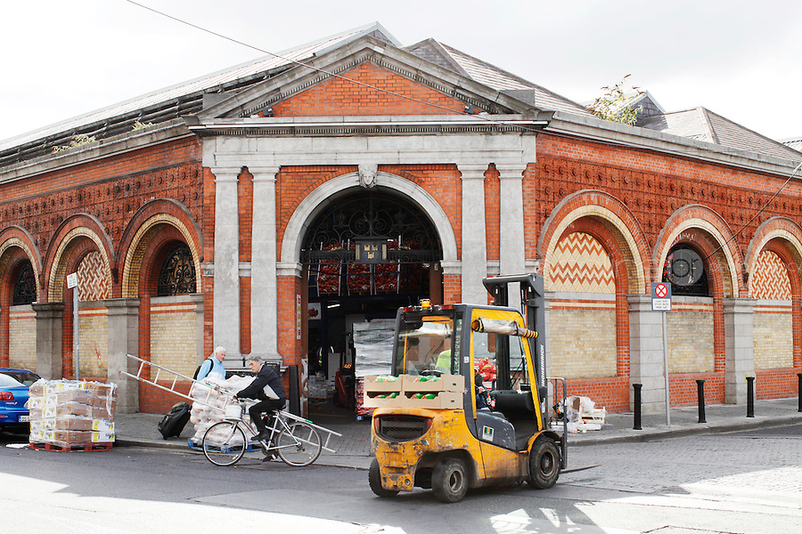 26/8/2011. Dublin Fruit and Vegetable Market.  The entrance to the Dublin Fruit and Vegetable Market. Picture James Horan/Collins Photos