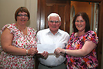 Joe Heeney, Cecilian Singers presents cheque to Elizabeth Doyle, Chairperson  and Jane Coyle, Treasurer Drogheda Special Olympics, at the Special Olympics Awards Night in the Westcourt Hotel...Photo NEWSFILE/Jenny Matthews.(Photo credit should read Jenny Matthews/NEWSFILE)....This Picture has been sent you under the condtions enclosed by:.Newsfile Ltd..The Studio,.Millmount Abbey,.Drogheda,.Co Meath..Ireland..Tel: +353(0)41-9871240.Fax: +353(0)41-9871260.GSM: +353(0)86-2500958.email: pictures@newsfile.ie.www.newsfile.ie.FTP: 193.120.102.198.