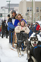 Buser, Martin leaves the 2011 Iditarod ceremonial start line in downtown Anchorage, during the 2012 Iditarod..Jim R. Kohl/Iditarodphotos.com