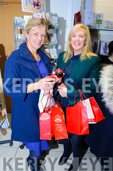 Morna O'Halloran and Shiela Kelly pictured here enjoying some mulled wine while attending the CH Chemists' Christmas Shopping Event last Friday.