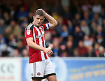 Sheffield United's Jack O'Connell in action during the League One match at the Kingsmeadow Stadium, London. Picture date: September 10th, 2016. Pic David Klein/Sportimage
