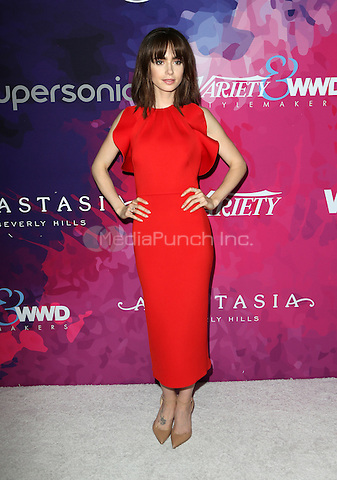 WEST HOLLYWOOD, CA - NOVEMBER 17: Lily Collins at Variety And WWD's 2nd Annual StyleMakers Awards at Quixote Studios West Hollywood on November 17, 2016 in West Hollywood, California. Credit: Faye Sadou/MediaPunch
