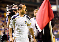 LA Galaxy forward Landon Donovan (10) sets up a corner kick. The LA Galaxy and Toronto FC played to a 0-0 draw at Home Depot Center stadium in Carson, California on Saturday May 15, 2010.  .