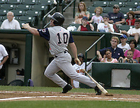 June 14, 2004:  Stubby Clapp (10) of the Syracuse Sky Chiefs, Class-AAA International League affiliate of the Toronto Blue Jays, during a game at Frontier Field in Rochester, NY.  Photo by:  Mike Janes/Four Seam Images