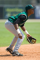 Augusta shortstop Sharlon Schoop (12) on defense versus Kannapolis at Fieldcrest Cannon Stadium in Kannapolis, NC, Wednesday, May 2, 2007.