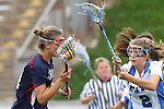 Redondo Beach, CA 05/14/11 - Regan Anderson (St Margaret #21) and unidentified Cate player in action during the 2011 Division 2 US Lacrosse / CIF Southern Section Championship game between Cate School and St Margaret.