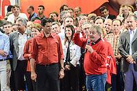 ATENCAO EDITOR IMAGEM EMBARGADA PARA VEICULOS INTERNACIONAIS - SAO PAULO, SP, 20 OUTUBRO 2012 - ELEICOES 2012 - FERNANDO HADDAD - O candidato a prefeitura pelo Partido dos Trabalhadores Fernando Haddad durante comício com presenca presidente da Republica Dilma Rousseff e o ex presidente Luiz Inacio Lula da Silva (FOTO)  no Ginasio do Caninde na regiao norte da capital paulista, neste sábado, 20. (FOTO: ALEXANDRE MOREIRA / BRAZIL PHOTO PRESS).