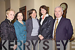 Awards Night: Listowel Community College Fetac Awards Ceremony last Friday night in the Listowel Arms Hotel, Carmel Kelly(Deputy Principal), Ann O'Dwyer(Education Officer, KES), Sharon Brown (Adult Education Officer, KES), Joan Burton T.D, Sean McCarthy(Principal)..KES-Kerry Eduction Services.