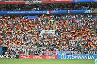 Deutsche Fans mit ihren Fahnen - 17.06.2018: Deutschland vs. Mexico, Luschniki Stadium Moskau
