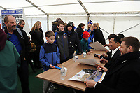A general view of the player signing session. Anglo-Welsh Cup match, between Bath Rugby and Newcastle Falcons on January 27, 2018 at the Recreation Ground in Bath, England. Photo by: Patrick Khachfe / Onside Images