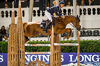 FRA-Kevin Staut rides Viking d'La Rousserie during the Hyundai Cup of the City of Barcelona. Final-5th. 2019 CSIO Barcelona - Longines FEI Nations Cup Jumping Final. Reial Club de Polo de Barcelona. Spain. Friday 4 October. Copyright Photo: Libby Law Photography