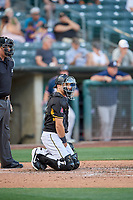 Ryan Scott (6) of the Salt Lake Bees during the game against the Reno Aces at Smith's Ballpark on June 26, 2019 in Salt Lake City, Utah. The Aces defeated the Bees 6-4. (Stephen Smith/Four Seam Images)