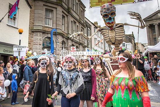 Mazey Day celebrations in Penzance, Cornwall.