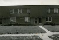 1990 July ..Assisted Housing..Oakleaf Forest..Oakleaf Forest B&W Study:.Head on shots of typical 1&2 story cottages all sides.07/90 HOUSING:Oaklf fr:1 :1 :R1...NEG#.NRHA#..