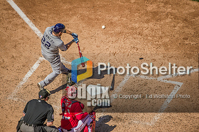 27 April 2014: San Diego Padres pitcher Ian Kennedy at bat against the Washington Nationals at Nationals Park in Washington, DC. The Padres defeated the Nationals 4-2 to to split their 4-game series. Mandatory Credit: Ed Wolfstein Photo *** RAW (NEF) Image File Available ***