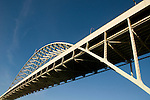 The Fremont Bridge, close-up, Portland, Oregon