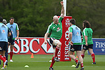 British & Irish Lions training session.Paul O'Connell does some stretching before starting the Lions first training session in Wales..Vale Resort.15.05.13.©Steve Pope