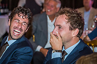 The Hague, The Netherlands, September 13, 2017,  Sportcampus , Davis Cup Netherlands - Chech Republic, Official Dinner, Robin Haase (NED) and Matwe Middelkoop (NED) (R)<br /> Photo: Tennisimages/Henk Koster