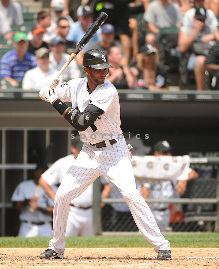ALEXEI RAMIREZ (10) of the Chicago White Sox in action during the White Sox game against the Texas Rangers on July 5, 2012 at US Cellular Field in Chicago, IL. The White Sox beat the Rangers 2-1.