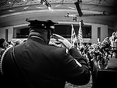 Saluting the colors at the 2015 District of Columbia inauguration at the Convention Center in Washington, DC. <br /> <br /> PHOTOS/John Nelson