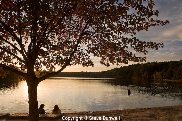 Walden Pond sunset, Concord, MA