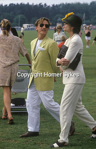 Jasper Conran and friend at Windsor Great Park Polo ground England