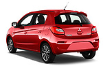 Car pictures of rear three quarter view of 2019 Mitsubishi Spacestar Invite 5 Door Hatchback Angular Rear