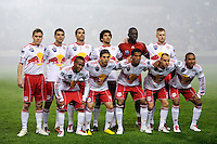 New York Red Bulls starting eleven. The San Jose Earthquakes defeated the New York Red Bulls 3-1, (3-2) on aggregate during the 2nd leg of the Major League Soccer (MLS) Eastern Conference Semifinals at Red Bull Arena in Harrison, NJ, on November 04, 2010.