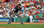 9 June 2012: Umpire Paul Nauert gets ready for action between the Boston Red Sox and the visiting Washington Nationals at Fenway Park in Boston, MA. The Nationals defeated the Red Sox 4-2 in the second game of their 3-game series. Mandatory Credit: Ed Wolfstein Photo