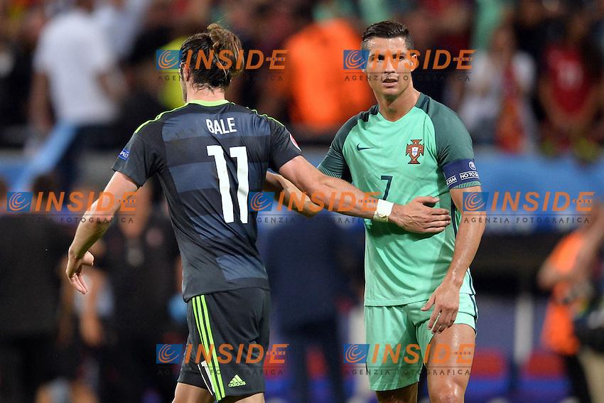 Cristiano Ronaldo (por) - Gareth Bale (gal)<br /> Lyon 06-07-2016 Stade de Lyon Football Euro2016 Portugal - Wales / Portogallo - Galles Semi-finals / Semifinali <br /> Foto Anthony BIBARD Panoramic / Insidefoto