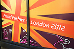 London 2012 Partner advertisement outside Sainsburys supermarket