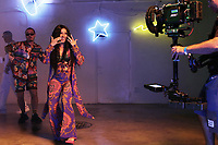MIAMI, FLORIDA - MAY 29, 2018 Cardi B, J Balvin &amp; Bad Bunny on the set of the I Like It video shoot March 28, 2018 in Miami, Florida. <br /> CAP/MPI/WG<br /> &copy;WG/MPI/Capital Pictures
