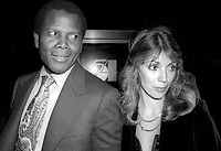 Sidney Poitier and wife Joanna Shimkus 1977<br /> Photo By Adam Scull/PHOTOlink/MediaPunch