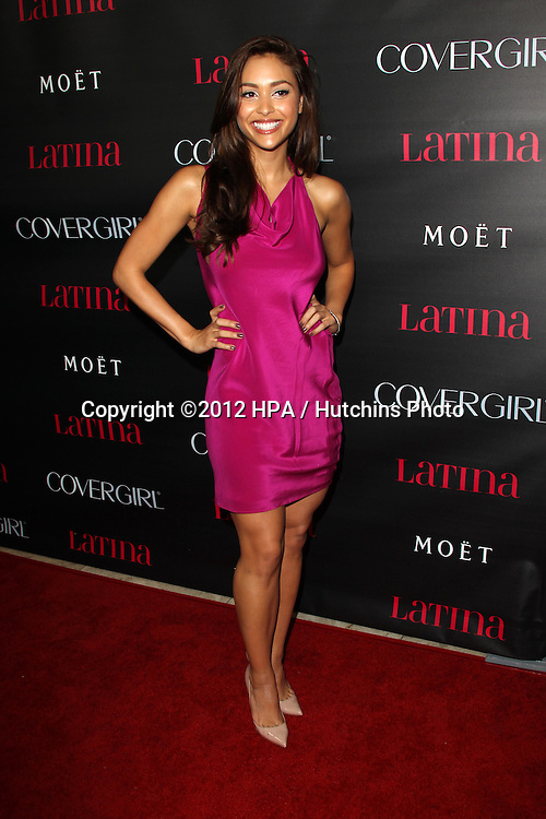 """LOS ANGELES - OCT 4:  Lindsey Morgan arrives at the """"Latinos In Hollywood"""" Event at The London West Hollywood on October 4, 2012 in West Hollywood, CA"""