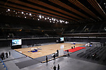 February 2, 2020, Tokyo, Japan - Japan's Ariake Arena is opened for the press after the opening ceremony in Tokyo on Sunday, February 2, 2020. Ariake Arena, 15,000 seats multiple purpose hall will be used for Olympic volleyball and Paralympic wheelchair basketball events.    (Photo by Yoshio Tsunoda/AFLO)